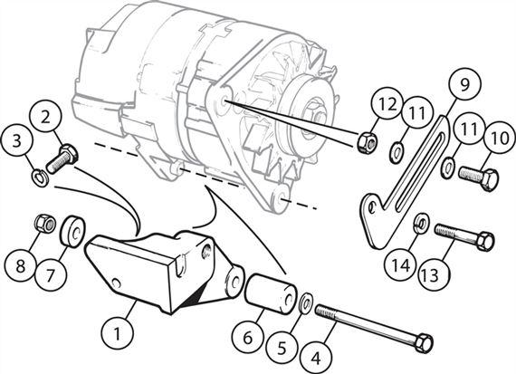triumph tr6 alternator mountings rimmer bros Triumph TR6 V8 Conversion triumph tr6 alternator mountings