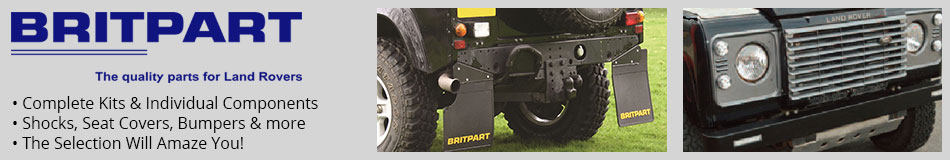 BritPart - Quality Parts for Land Rovers - Complete Kits & Individual Components - Shocks, Seat Covers, Bumpers & more - The Selection Will Amaze You!
