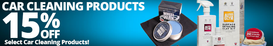 15% off Car Cleaning Products