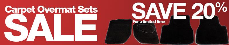 Save 20% on Carpet Overmat Sets