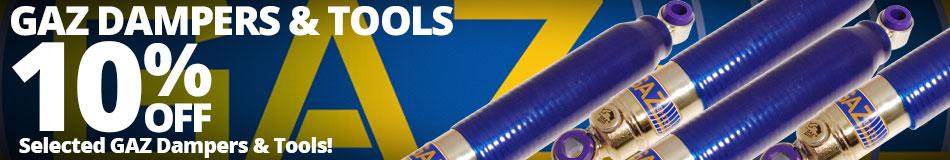 10% off Selected GAZ Dampers & Tools