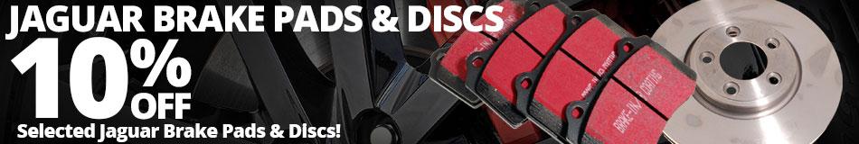 10% off Selected Jaguar Brake Pads and Discs