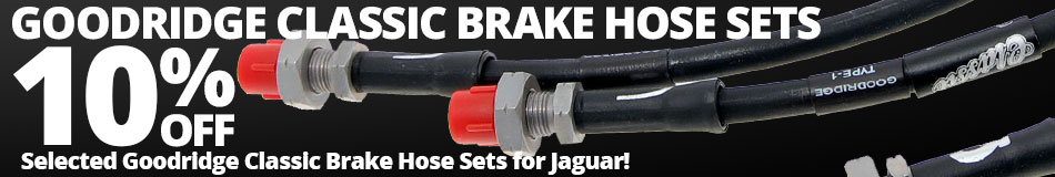 10% off Selected Goodridge Classic Brake Hose Sets for Jaguar