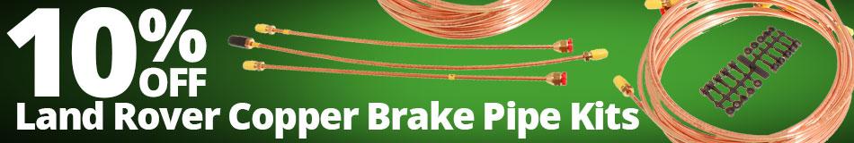 10% off Land Rover Copper Brake Pipe Kits