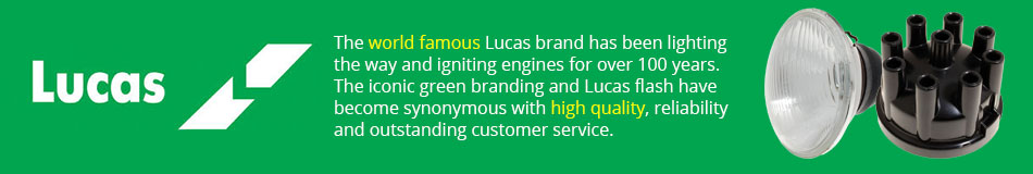 Lucas - The world famous Lucas brand has been lighting the way and igniting engines for over 100 years. The iconic green branding and Lucas flash have become synonymous with high quality, reliability and outstanding customer service.