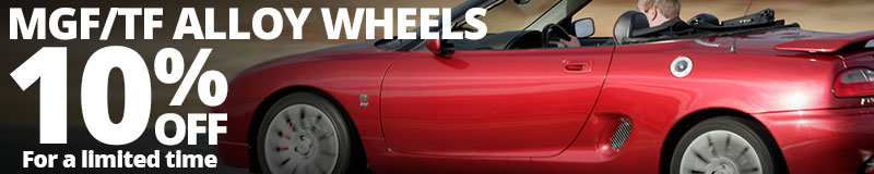 Save 10% on select MGF and MGTF Alloy Wheels
