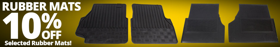 10% off Selected Rubber Mats
