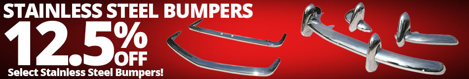 12.5% Off Stainless Steel Bupmers