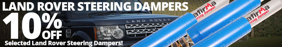 10% off Selected Land Rover Steering Dampers
