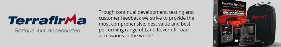 Terrafirma - Trough continual development, testing and customer feedback we strive to provide the most comprehensive, best value and best performing range of Land Rover off-road accessories in the world!
