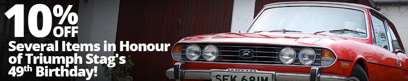 10% off Several Items in Honour of Triumph Stag's 49th Birthday!