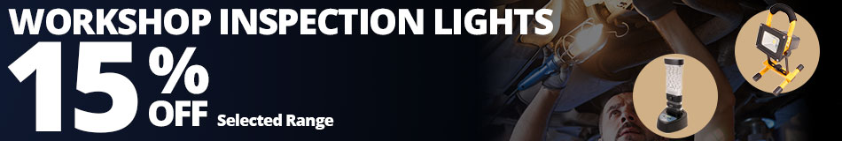 15% Off Selected Workshop Inspection Lights