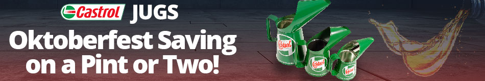 Castrol Jugs - Oktoberfest Savings on a pint or two!