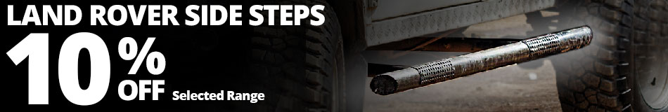 10% Off Selected Land Rover Side Steps