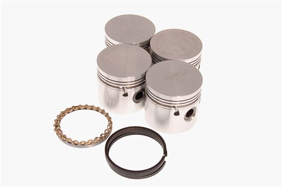 Piston Set - Oversize +0.020 - Complete with Rings - 155907020COUNTY