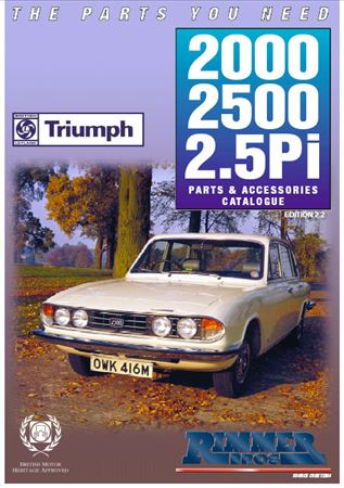 Rimmer Bros Triumph 2000/2500/2.5Pi Catalogue Edition 2.2 - 2000 CAT