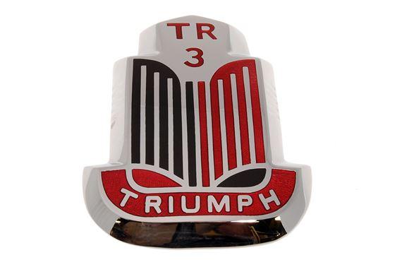 bonnet badge triumph tr3 black red at. Black Bedroom Furniture Sets. Home Design Ideas
