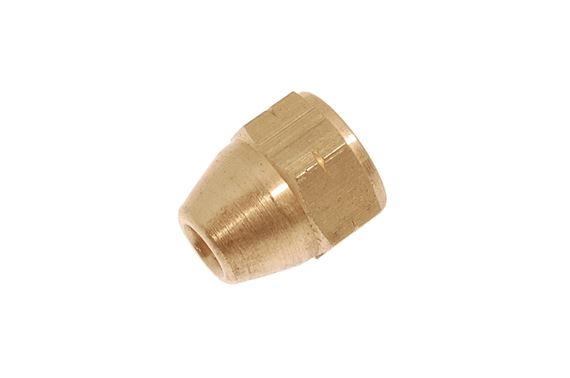 Pipe Nut - Female - Brass Thread Size - 10mm x 1mm Pipe Bore - 3/16 inch - AEHU2A