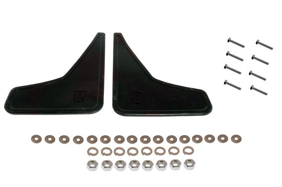 Front Mudflaps with Fittings - Black Pair - Rover SD1 - As OE Rover - AJM1637PK