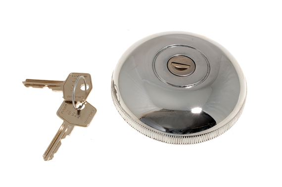 Locking Fuel Cap - Chrome - Wilmot Breedon Style - MGB - Midget and Sprite