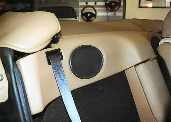 Finisher - RP1189CREAM - Rear Bulkhead - Accessory Fitment - Leather Trimmed - Cream