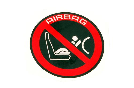 Label - Front Passenger Airbag Warning - Round - LHD - Genuine Land Rover