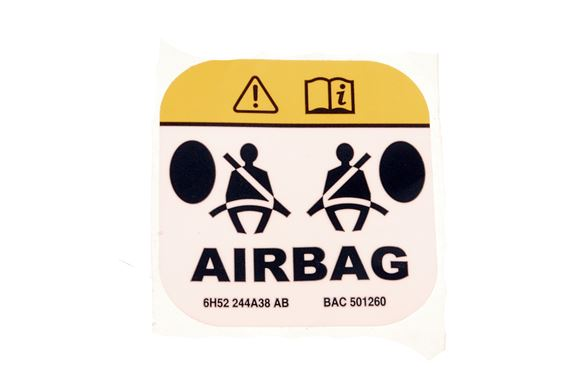 Label - Side Airbag Warning - Square - Genuine Land Rover
