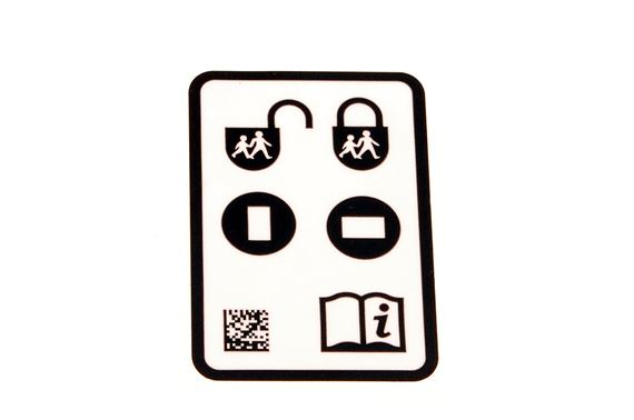 Decal - Child Safety Door Lock Instructions - Genuine Land Rover