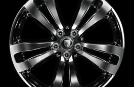 Rear Alloy Wheel - Single - Toba Polished - 10J x 19 - C2D7282 - Genuine Jaguar