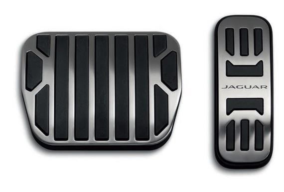 Sport Pedal Covers - Stainless Steel - C2P23554 - Genuine Jaguar