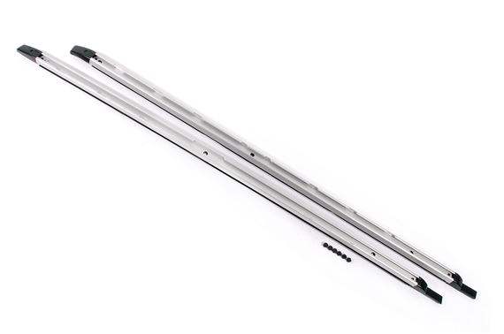 Roof Rack Side Rail Set - Standard Length - 3/4 Length of Roof - Bright Finish - Genuine Land Rover