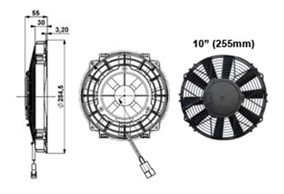 Comex Slimline Fan - 255mm (10 inches)