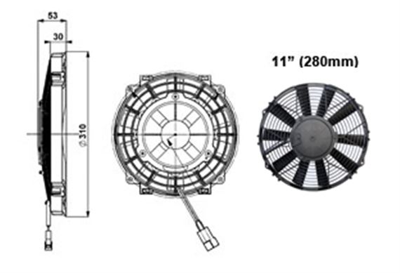 Comex Slimline Fan - 280mm (11 inches)