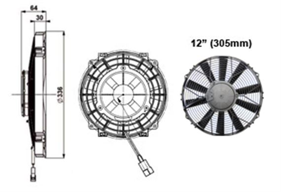 Comex High Power Fan - 305mm (12 inches)