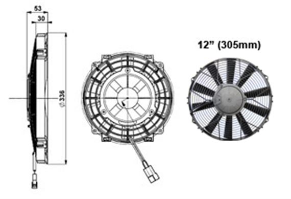 Comex Slimline Fan - 305mm (12 inches)