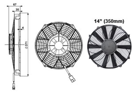 Comex High Power Fan - 350mm (14 inches)