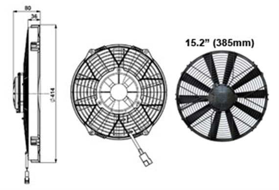 Comex Very High Power Fan - 385mm (15.2 inches)