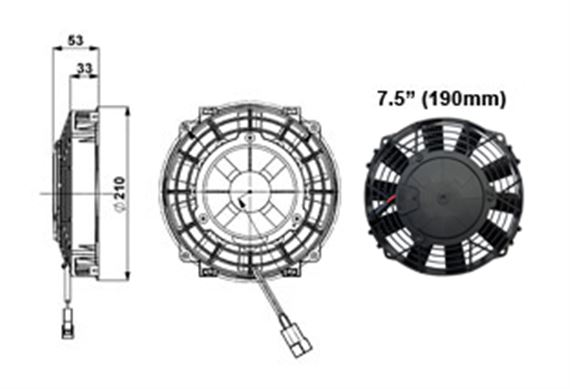 Comex Slimline Fan - 190mm (7.5 inches)