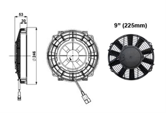 Comex Slimline Fan - 225mm (9 inches)