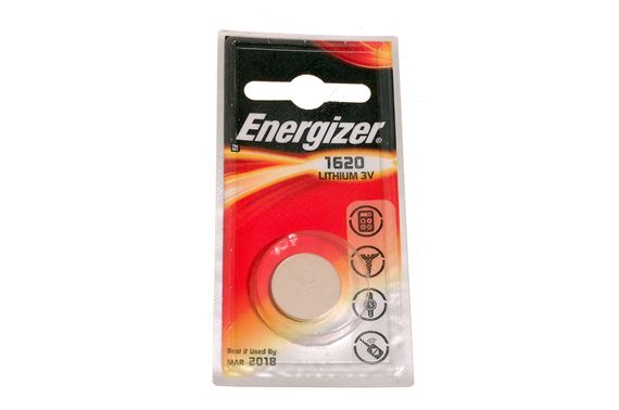 Energizer CR1620 3v Lithium Coin Batteries for Car Remote Controls - Single