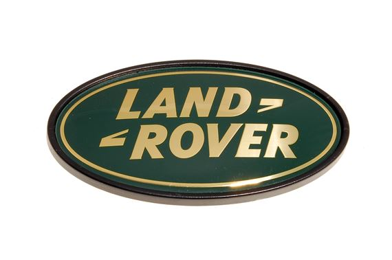 Oval Land Rover Badge - Gold - on Rear Panel - Genuine Land Rover