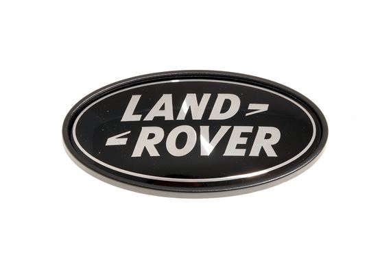 Land Rover Name Badge - Rear - Black-Silver - Genuine Land Rover