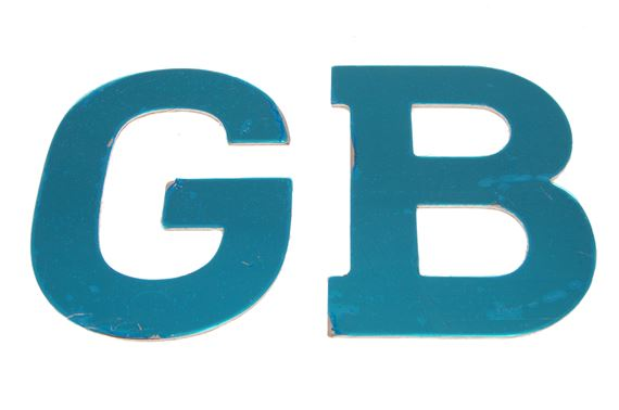 GB Badge - Brushed Aluminium - Self Adhesive - Genuine MG Rover