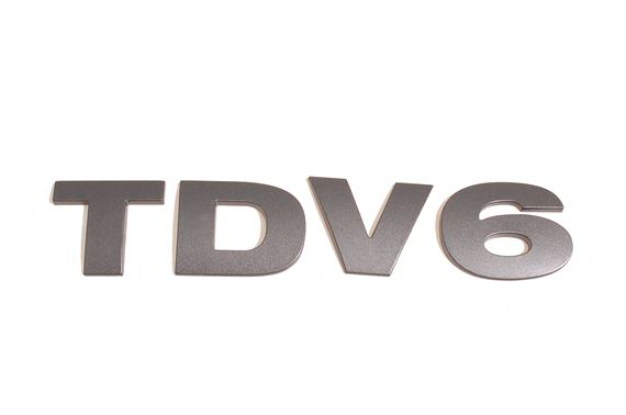 Rear Door Letter Set - TDV6 - Brunel Metallic Finish - OEM