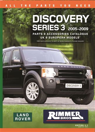 Rimmer Bros Discovery 3 Catalogue 05-09