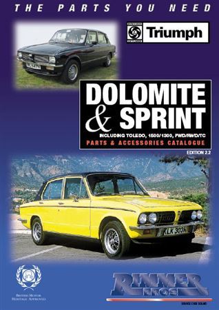 Rimmer Bros Triumph Dolomite and Sprint Catalogue - DOL CAT