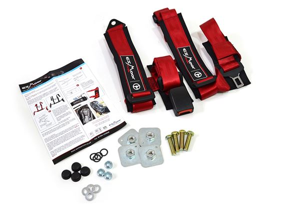 Exmoor Trim - 4 Point Full Harness - Red