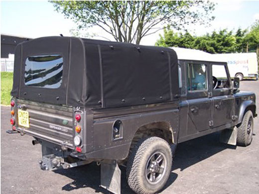 Exmoor Trim - Defender - 130 Inch and High Capacity Full Hood - Canvas - Sand & Exmoor Trim - Defender - 130 Inch and High Capacity Full Hood ...