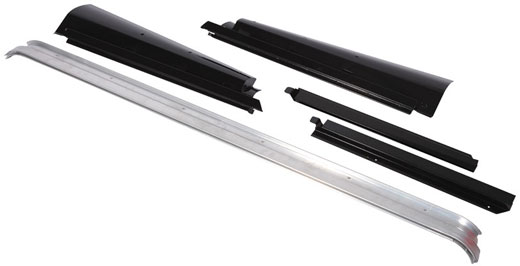 Exmoor Trim - Defender - 90 Inch XS Drain Channel Kit - Black Powder Coated