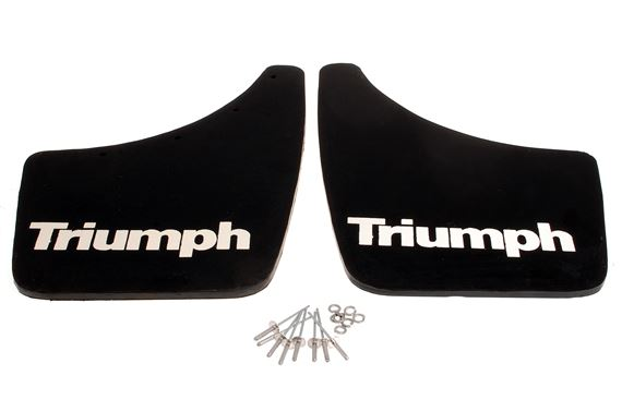 Triumph Spitfire/GT6 Front Mudflaps With Fittings - GAC630F